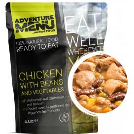 Gotowe danie - kurczak z fasolką i warzywami (bezglutenowe) 376 kcal