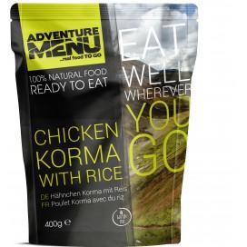 Gotowe danie -kurczak Korma z ryżem (bezglutenowe) 585  kcal