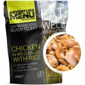 Gotowe danie -kurczak w dzikim sosie z ryżem (bezglutenowe) 544 kcal