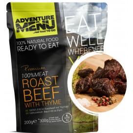 Gotowe danie -pieczona wołowina rostbef z tymiankiem  (bezglutenowe) 428 kcal