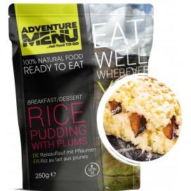 Gotowe danie -deser pudding ryżowy ze śliwkami  (bezglutenowe, wegetariańskie) 492 kcal