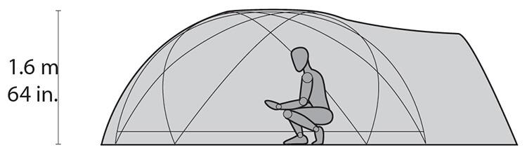 namiot ekspedycyjny stormking w środku