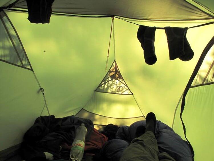 Namiot Hubba Hubba HP w środku