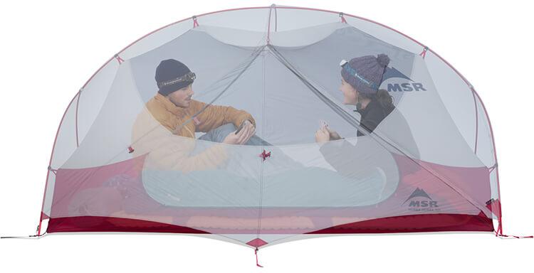 Miejsce w środku namiotu NX