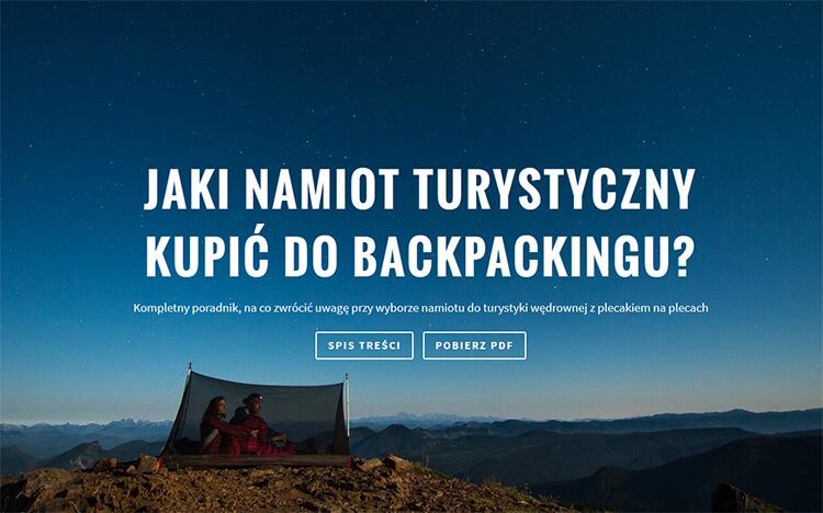 Poradnik: Jaki Namiot Turystyczny wybrać? – Część I