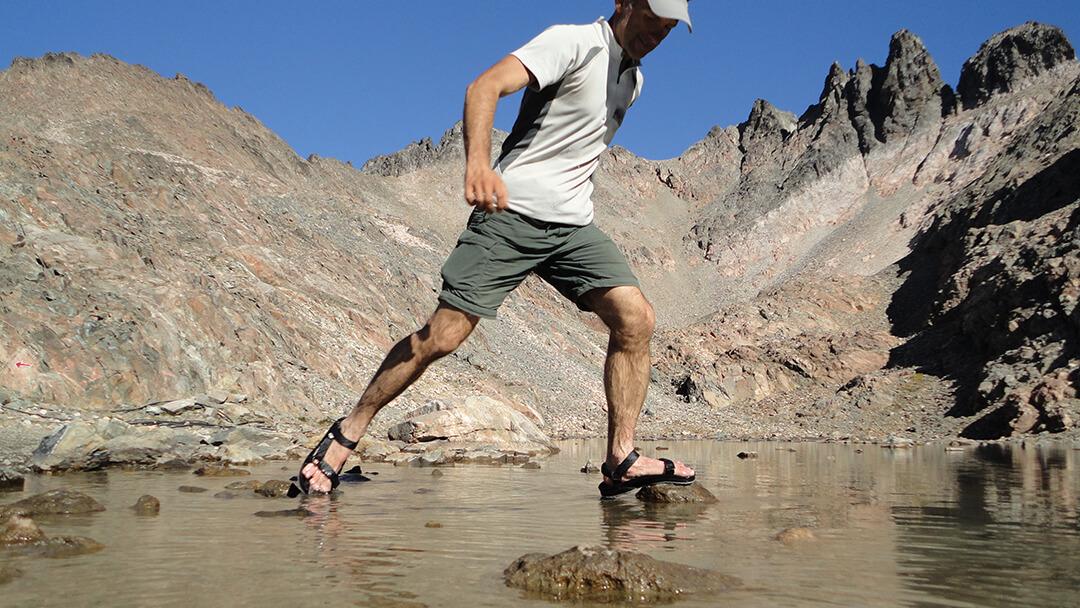 wodoodporne Sandały Turystyczne Lizard Creek III w akcji