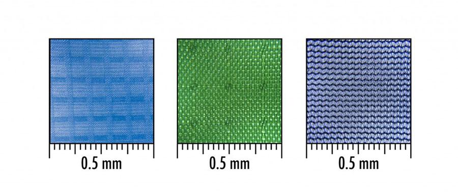 Porównanie rodzajów tkanin (rys.)