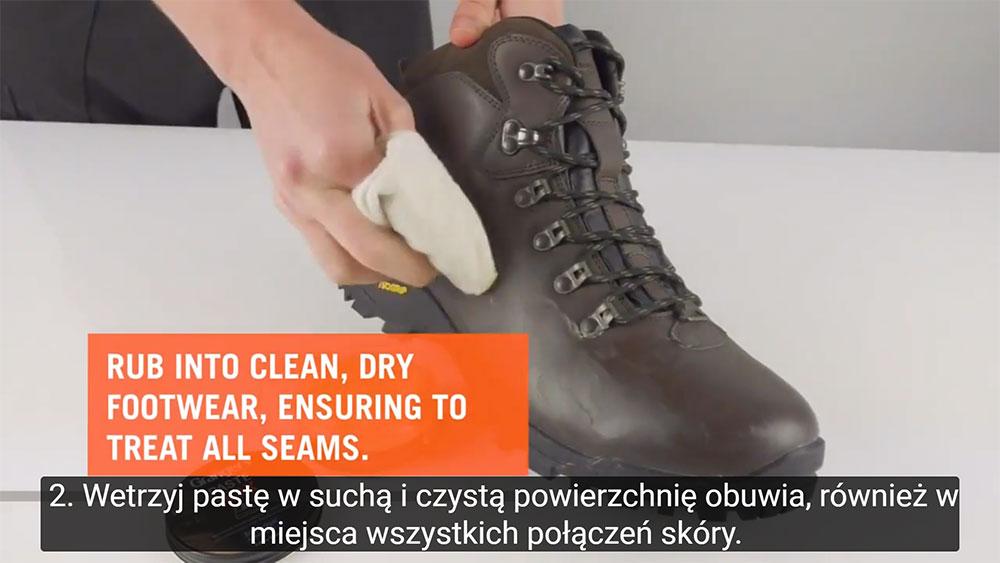 Jak Impregnować skórzane buty przy pomocy pasty woskowej Paste Wax