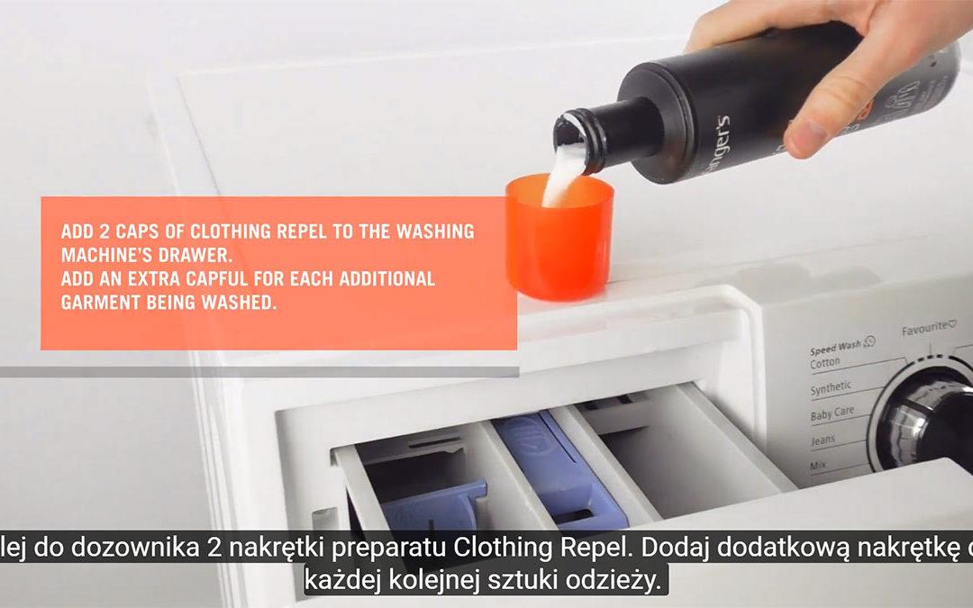 Jak impregnować odzież przy pomocy preparatu Clothing Repel