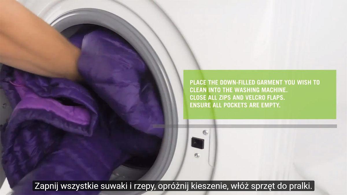 Jak wyprać kurtkę puchową, odzież lub śpiwór puchowy?