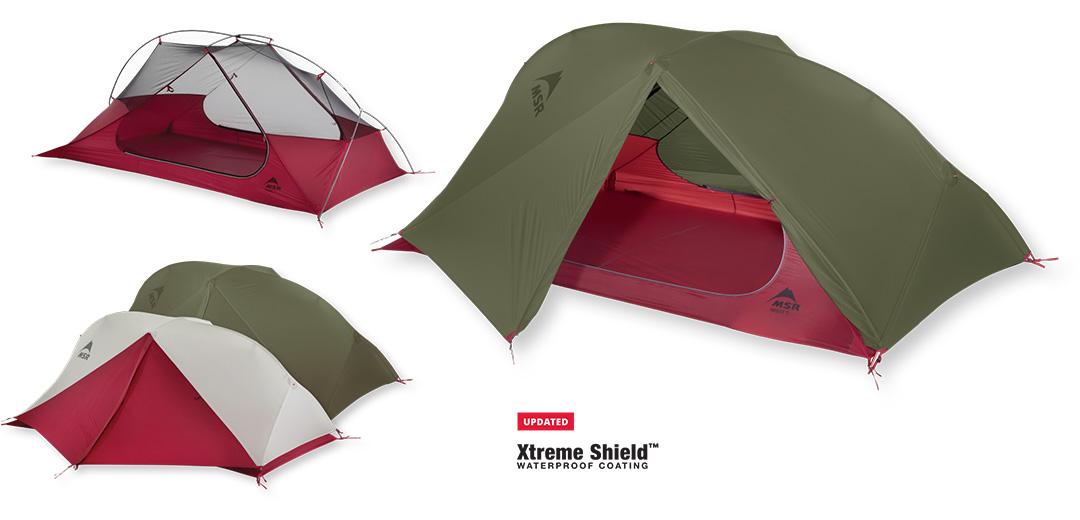 Najlżejszy 2-osobowy namiot backpackingowy FreeLite 2 - Nowa Wersja 2018