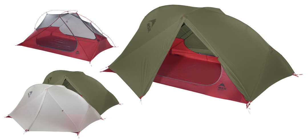Najlżejszy 2-osobowy namiot backpackingowy FreeLite 2