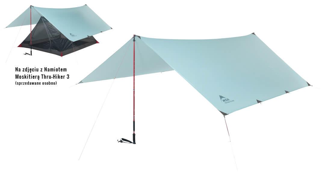 Płachta biwakowa tarp MSR Thru-Hiker 100 Wing
