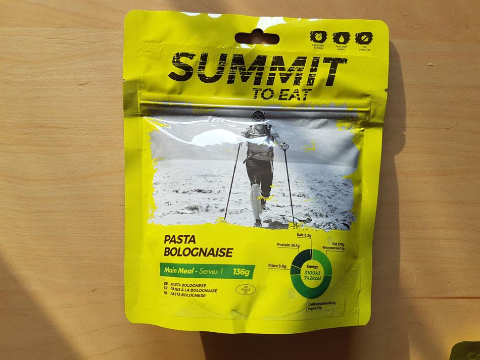 Liofilizaty Summit to Eat - Dobrze opisane paczki z ilością kalorii i wagą